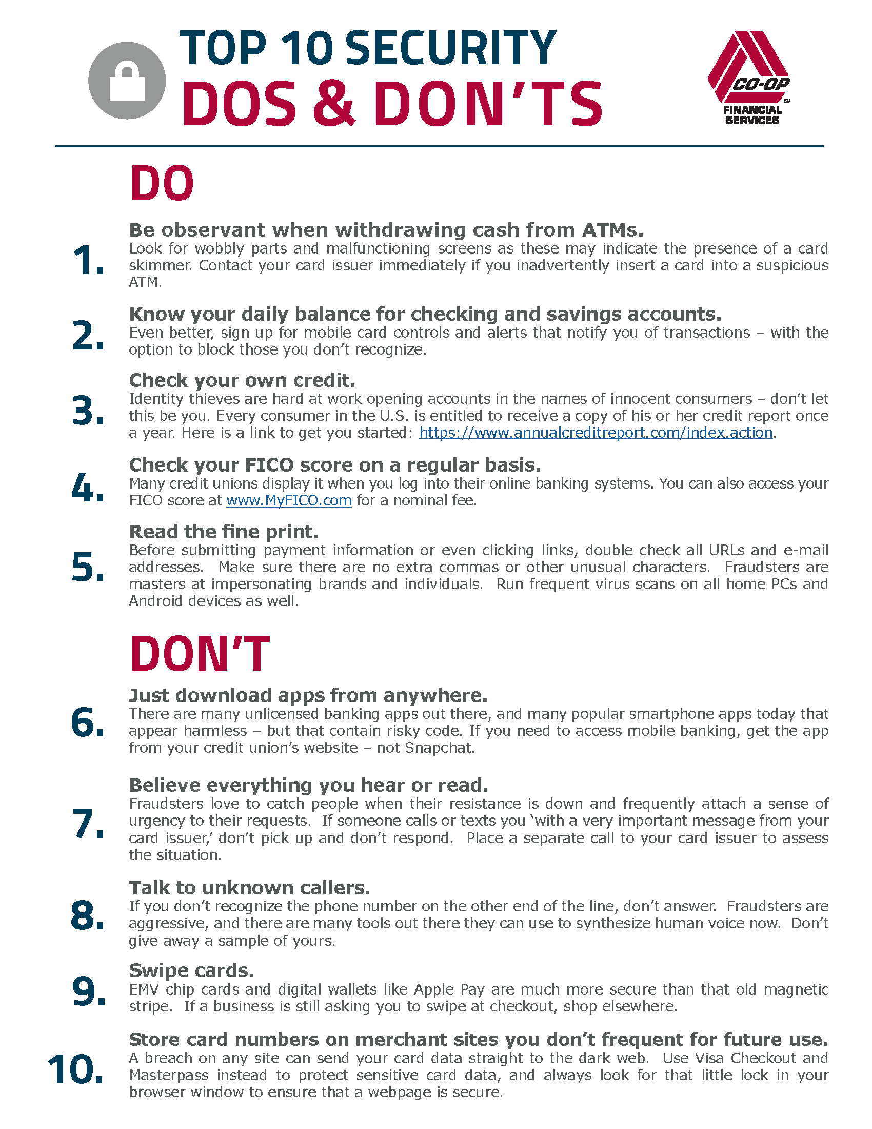 Top 10 Dos And Don Ts For Avoiding Card Fraud