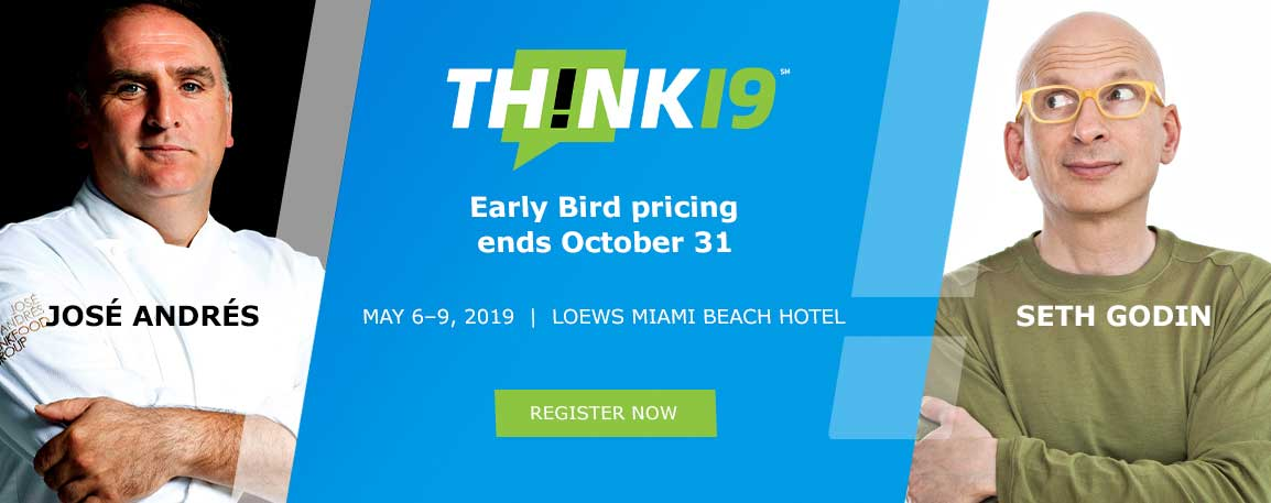 José Andrés and Seth Godin Will Headline THINK 19